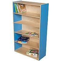 Wood Designs Kids Play Toy Book合板オーガナイザーwd12960bブルーベリー本棚、60