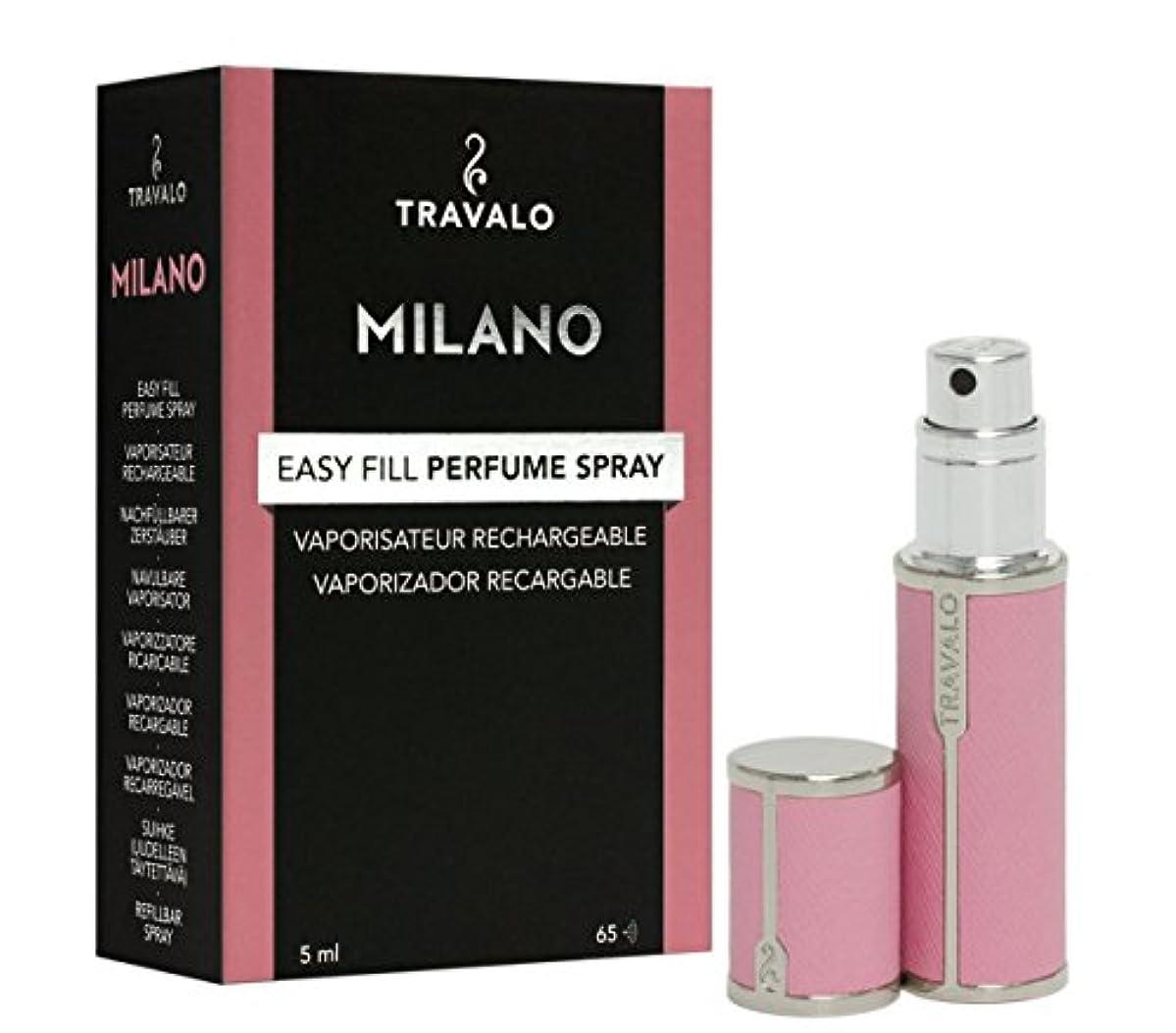 急降下ディスク富Travalo Milano トラヴァーロ ミラノ 香水 アトマイザー 香水10秒チャージ (ピンク)