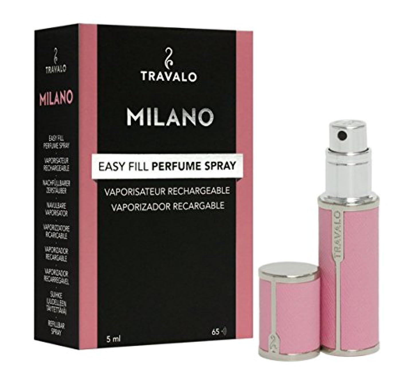 ハブ子猫確かめるTravalo Milano トラヴァーロ ミラノ 香水 アトマイザー 香水10秒チャージ (ピンク)