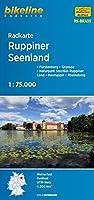 Radkarte Ruppiner Seenland (RK-BRA05) 1 : 75 000: Fuerstenberg - Gransee - Naturpark Stechlin-Ruppiner Land - Neuruppin - Rheinsberg, 1:75.000, wetterfest/reissfest, GPS-tauglich mit UTM-Netz