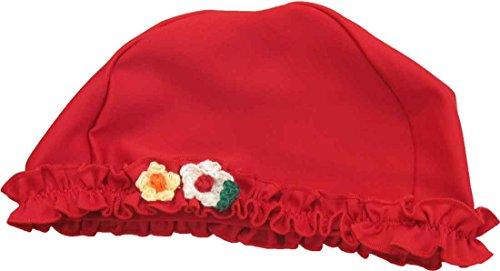 スーリースイムキャップ 女児用(赤) 夏休み 海 プール キッズ 子供 帽子