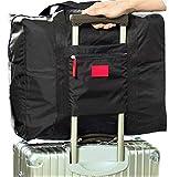 POSITIVE 超便利 手のひらサイズに収納できる 携帯用 ボストンバッグ 旅行バッグ スーツケース の持ち手に通せる 旅行 や 出張 に最適な バッグ 保証書付き (ブラック)