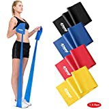 Resistance Band | 1.2 Metre or 2 Metre | Four Resistance Levels | Free Workout Guide | Exercise Band Ideal for Physiotherapy, Strength and Fitness Training (bands sold singly)