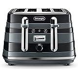 De'Longhi Avvolta, 4 Slice Toaster, CTA4003BK, Black