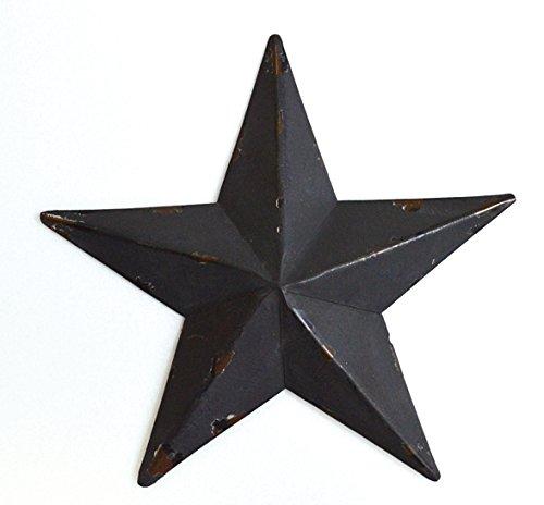 Gluck アンティーク調 ブリキ の 星の オーナメント バーンスター S 15.5cm ブラック
