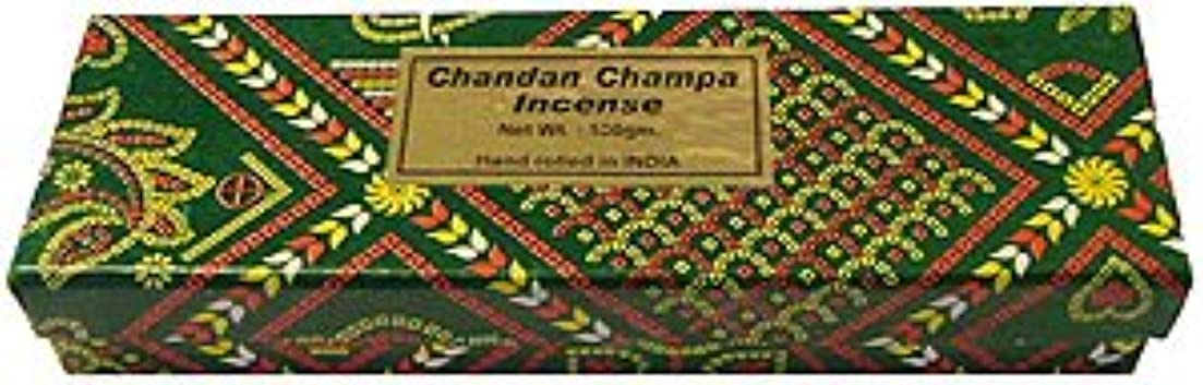 無限大連結する乗り出すChandan Champa Incense 100グラム – ボックス – Hand Rolledのインド