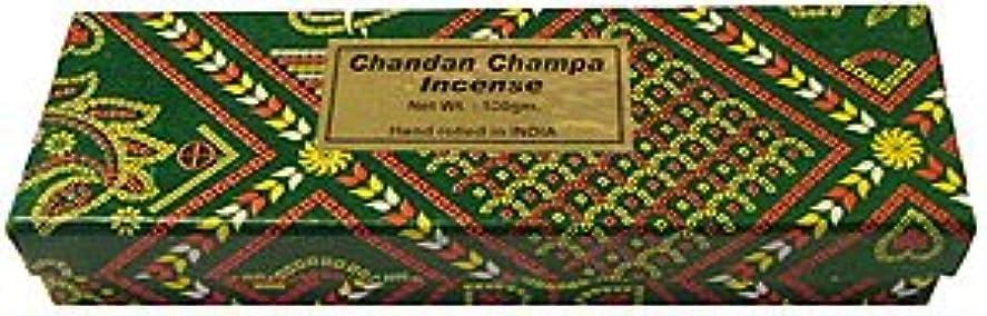 優勢活気づく有名なChandan Champa Incense 100グラム – ボックス – Hand Rolledのインド