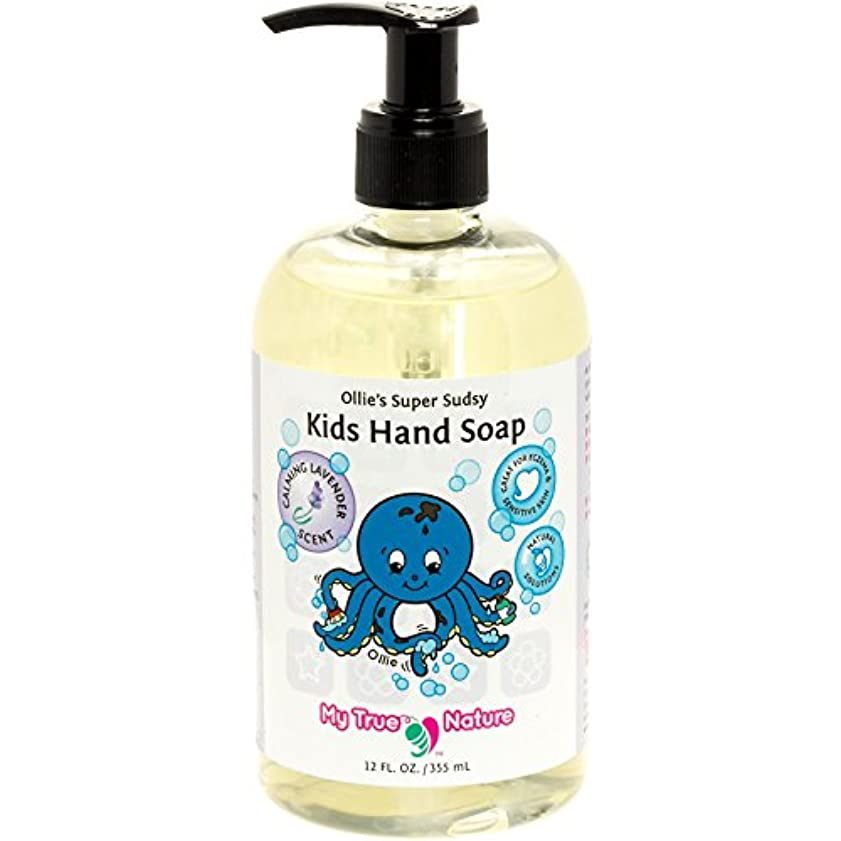 にじみ出る美徳爵All Natural Kids Soap - Ollie's Super Sudsy Liquid Hand Soap - Lavender Scent, 12 oz by My True Nature