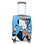 クロース(Kroeus)スーツケースカバー、磨耗に耐えられる伸縮素材を使用して作られ、そして厚めタイプで大切なスーツケースをすっぽり包んで、空港のターンテーブルなどによる擦り傷や汚れから守ります。撥水加工が施され、雨が降った場合にも使用できます。