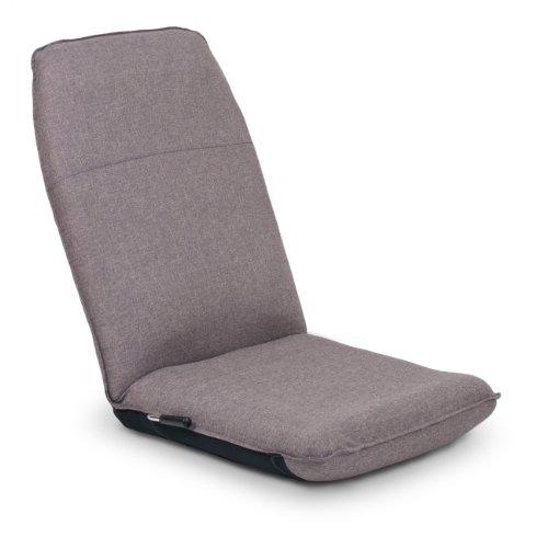 座椅子 腰をいたわる座椅子(レバー式14段)SM460-2 グレー 日本製