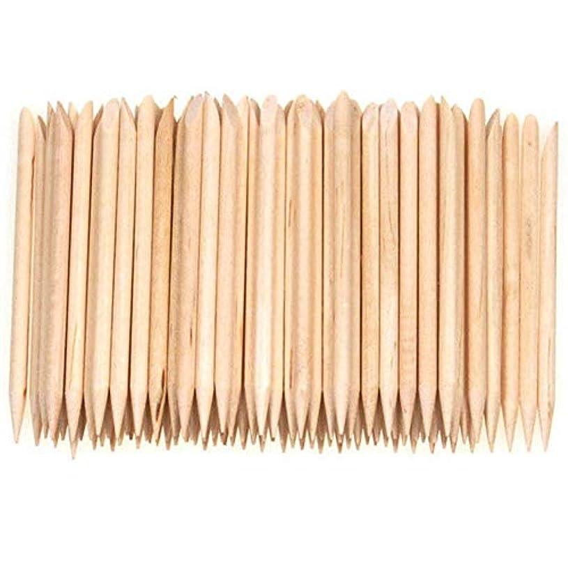 かわすわがまま治すSemoic 100個ネイルアートデザイン木製の棒キューティクルプッシャーリムーバーマニキュアケア