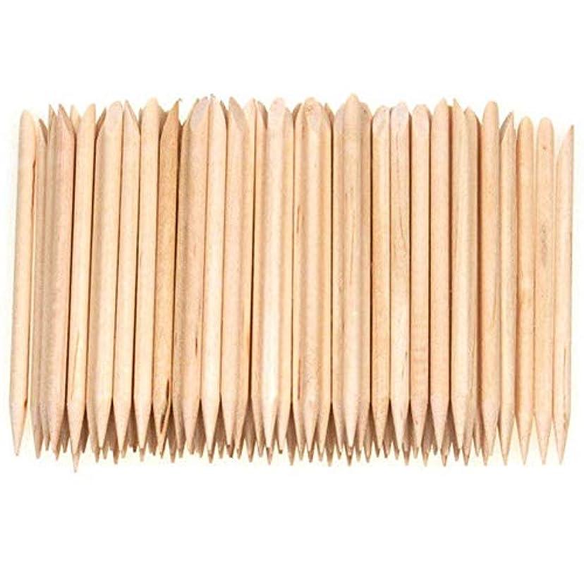 してはいけない割り当てヘクタールVaorwne 100個ネイルアートデザイン木製の棒キューティクルプッシャーリムーバーマニキュアケア
