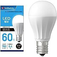 三菱ケミカルメディア Verbatim LED電球 E17 60W形相当 昼光色 (広配光/定格寿命40000時間/密閉器具対応) LDA6D-E17-G/LCV2