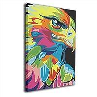 ブルームン パネル 30×40 フレーム 鷹 カラフル アートフレーム 装飾画 ポスター インテリア 枠なし 絵 モダン 贈り物