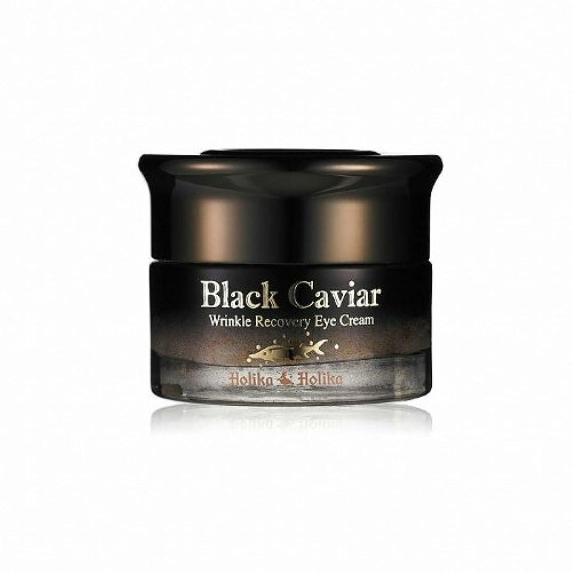 で出来ているインペリアルタッチHolika Holika Black Caviar Anti Wrinkle Recovery Eye Cream [Korean Import]