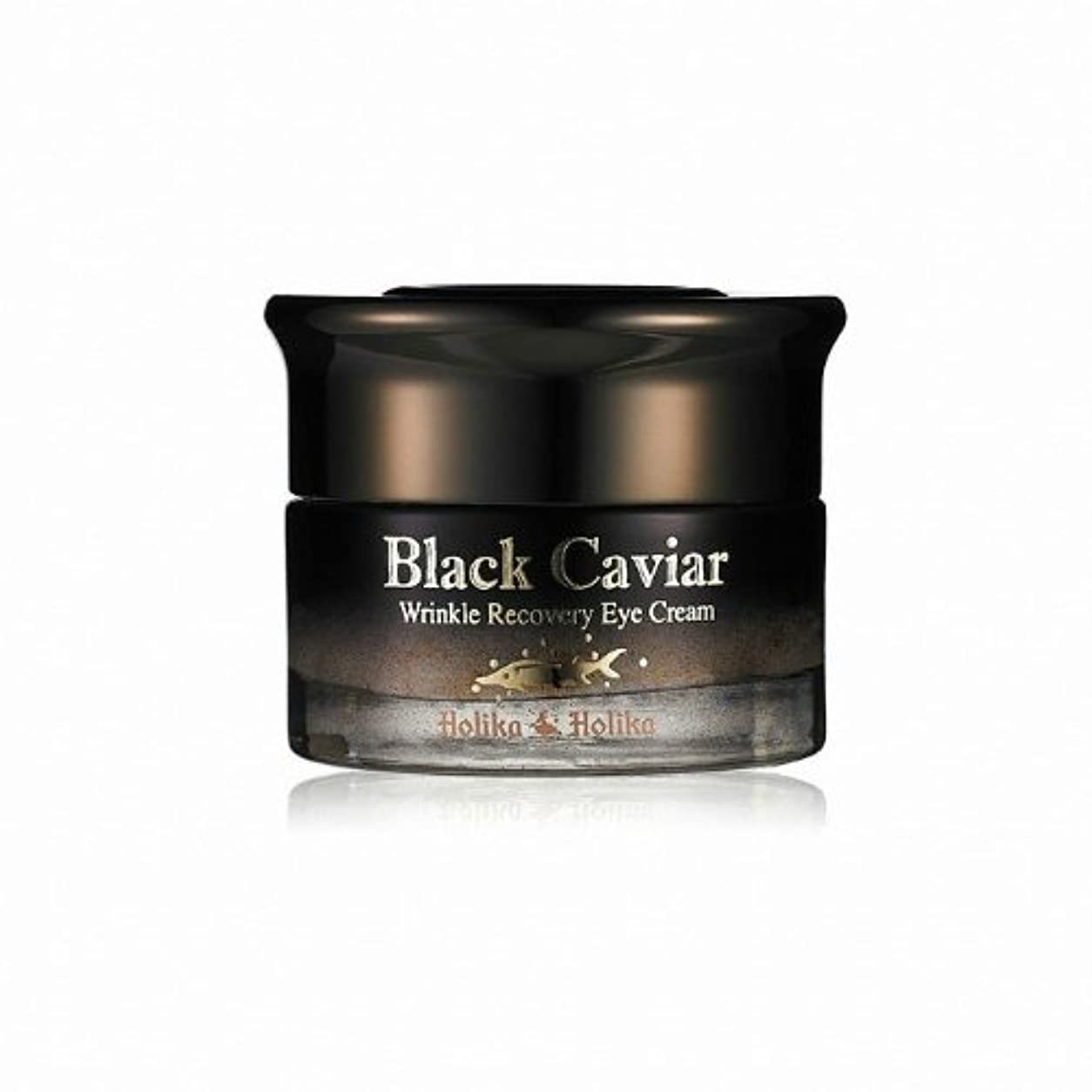 一時的差別化するびっくりHolika Holika Black Caviar Anti Wrinkle Recovery Eye Cream [Korean Import]