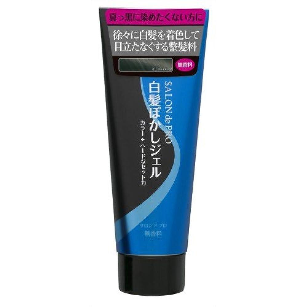 アプライアンス知性排泄物サロンドプロ 白髪ぼかしジェル ハード&カラープラス 160g