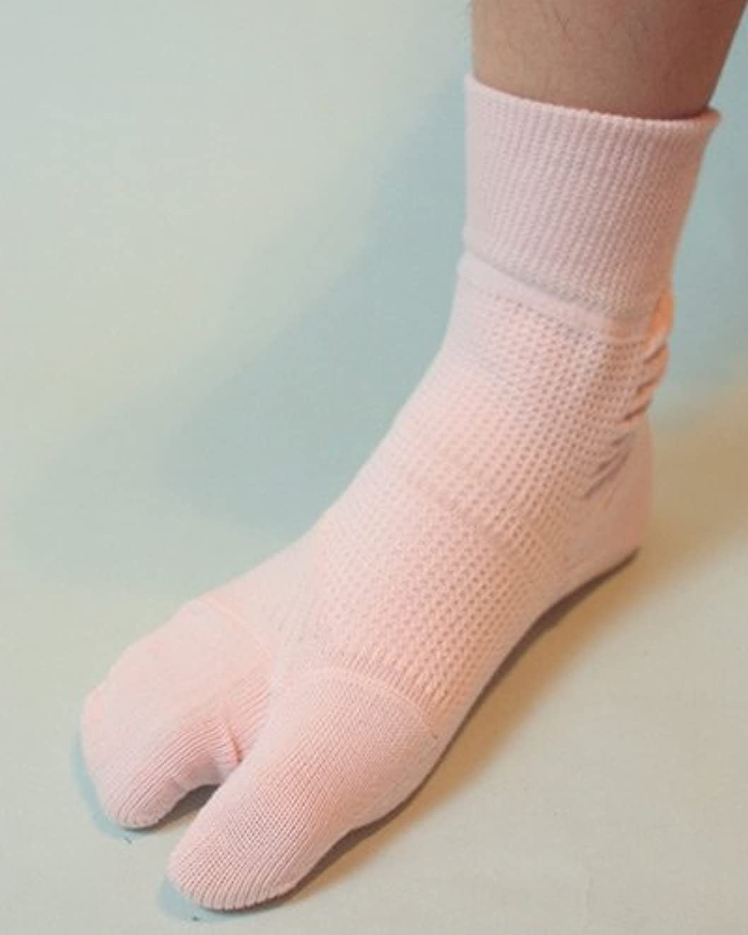 明らかにほこりヘビ蘭華 外反母趾対策靴下 ピンク 22-23cm