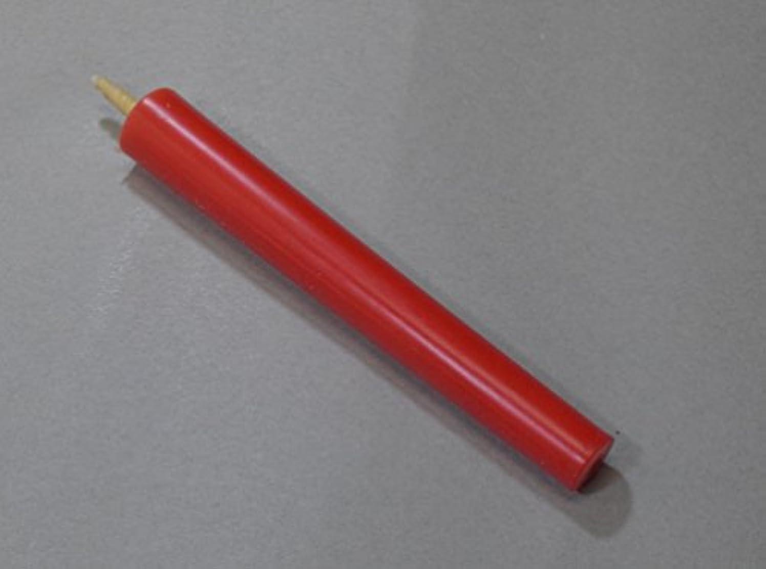 周波数意識しなやか和ろうそく 型和蝋燭 ローソク【朱】 棒 10号 朱色 10本入り 約16.5センチ 約2時間40分燃焼
