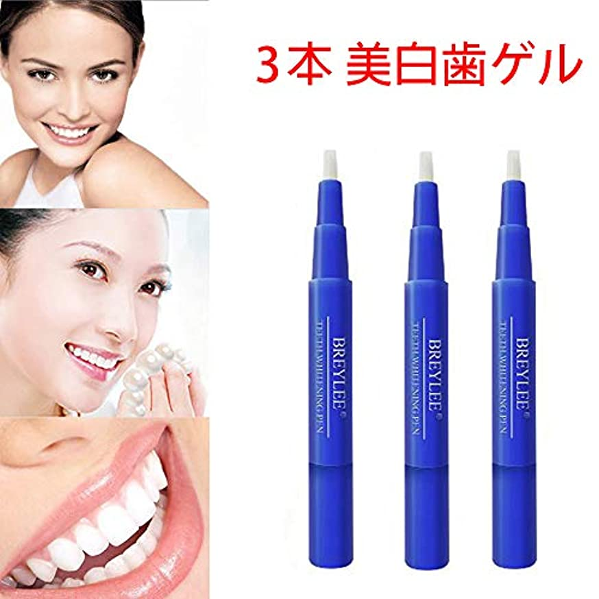 発症放棄慎重に美白歯ゲル 歯 ホワイトニングペン ホワイトニングペン 歯ブラシ 輝く笑顔 口臭防止 歯周病防止 (3 本)