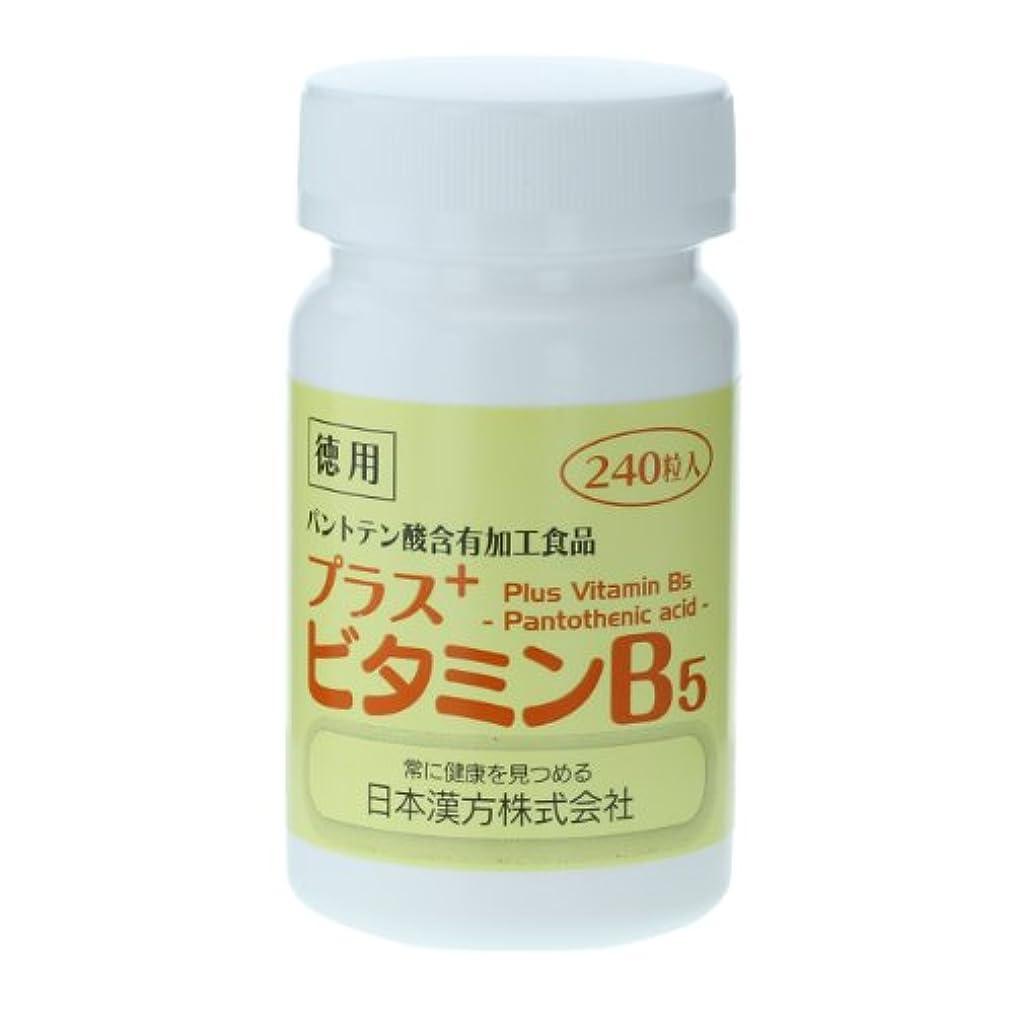 額染色ペフ日本漢方 プラス ビタミンB5 徳用ボトル 240粒 パントテン酸含有加工食品
