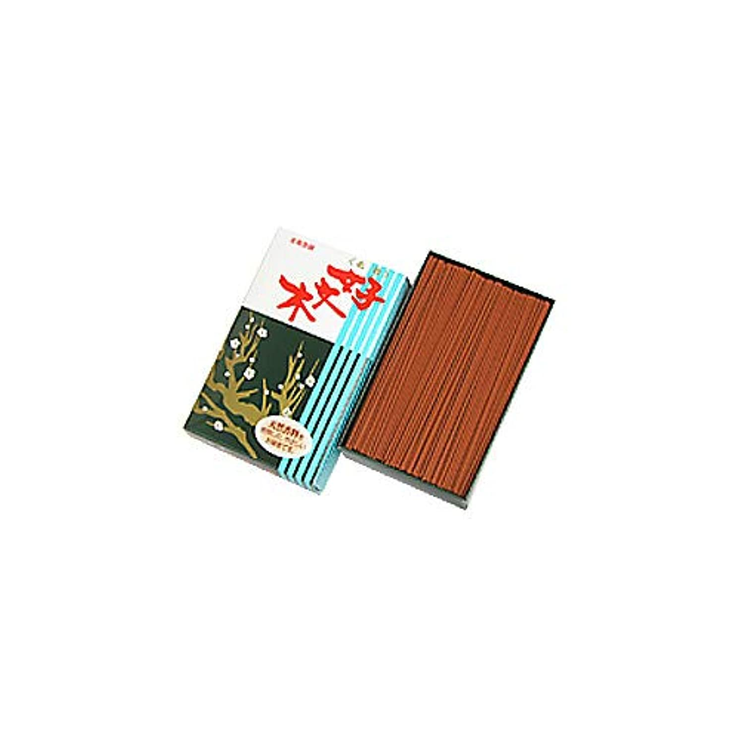 法廷ぼかす量で家庭用線香 好文木 お徳用大型バラ詰(箱寸法15×9.5×4cm)◆さわやかな白檀の香りのお線香(梅栄堂)