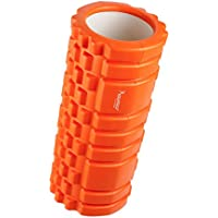 Syourselfフォームローラー&Foam Roller-高弾力のEVAエコ素材、ストリガーポイント、グリッド、14cm×33cm、筋膜リリース、物理療法、ヨガポール-フィットネス/エクササイズ/ダイエット/ヨガ/ピラティス/に最適、腰痛/肩コリ/筋肉痛を改善+専用ポーチ、説明書付