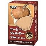 キーコーヒー コーヒーフィルター 2~4人用 無漂白 箱入り 100枚入り×10袋