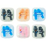 Every Cares Silicone Swimming Earplugs, 6 Pairs, Comfortable, Waterproof, Ear Plugs Swimming Showering Case