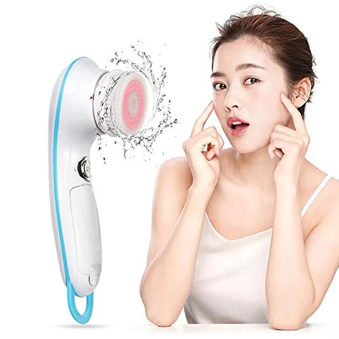 協同マイクサンダース洗顔は、ブラックヘッドの取り外しとタイマーとのスキンクレンザーメイク除去フェイスマッサージをマッサージ、ディープクレンジング、エクスフォリエイティング用防水、電気ブラシ