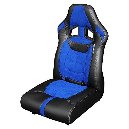 Bauhutte (バウヒュッテ) ゲーミング座椅子 リクライニング ポケットコイルクッション ロック付きキャスター採用 LOC-01-BU