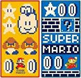 ポケットタオル スーパーマリオ「マリオアドベンチャー」(2絵柄組)