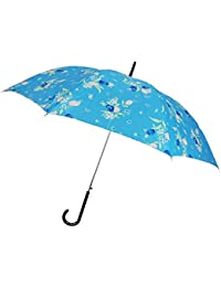 【雨傘】【婦人傘】レディース?ウィメンズ 花柄プリント 60cm ジャンプ傘 452019999 (水色)
