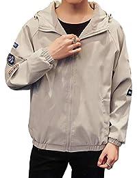 Sodossny-JP メンズプラスサイズロングスリーブ格子縞薄い軽量ボンバージャケットコート