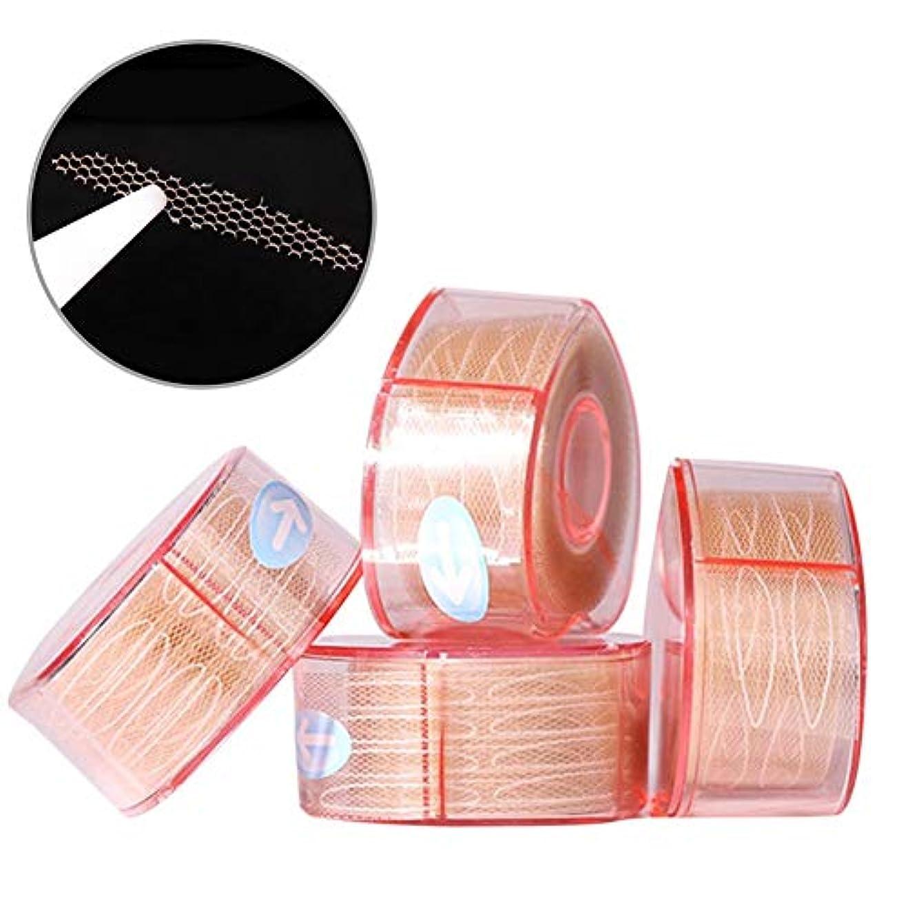 湿度増加する天井ナチュラルアイテープ 二重まぶたステッカー 二重まぶたテープ 300組セット メッシュ 見えない バレない 通気性 アイメイク 4タイプ選べる junexi