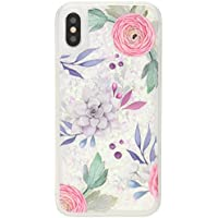 Casetify iPhone X ケース Pink Floral Succulents Feminine Chic Nature Glitter CTF-4154085-371603