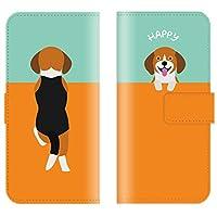 【 ankh 】 手帳型ケース 全機種対応 【 Optimus it L-05E オプティマス it L-05E専用 】 おしゃれ 子犬 チワワ トイプードル パグ ビーグル かわいい 犬 ブック型 二つ折り レザー 手帳カバー スマホケース スマートフォン