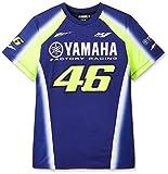 ヤマハ(YAMAHA) Tシャツ VR46 ヴァレンティーノ ロッシ 46&ヤマハファクトリーレーシングロゴ ブルー Mサイズ(欧州) Q5D-YSK-473-00M