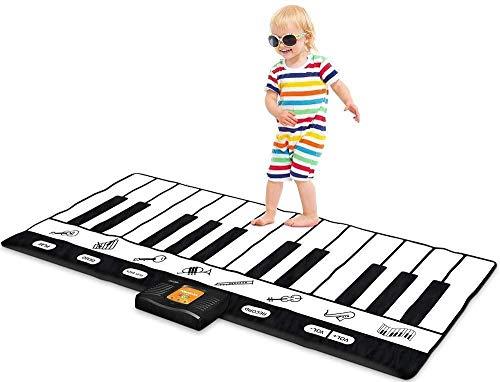 Housewares Goods ジャイアントキーボードプレイマット 71インチ - 24キーピアノプレイマット 巨大電子キーボード