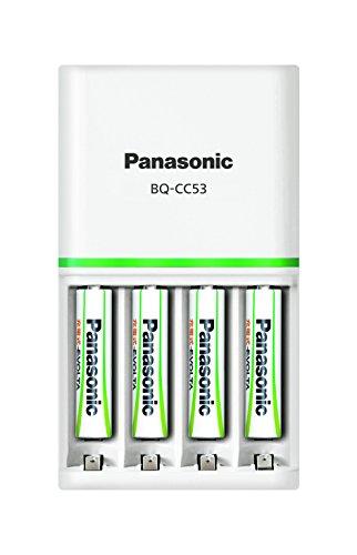 パナソニック 単4形ニッケル水素電池4本付充電器セット K-KJ53MLE04 1式