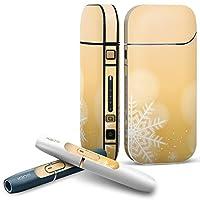 IQOS 2.4 plus 専用スキンシール COMPLETE アイコス 全面セット サイド ボタン デコ フラワー 雪の結晶 冬 シャボン玉 001438