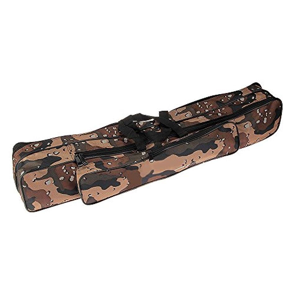 配管記者金銭的釣り魚タックルロッドバッグ Shsyue 釣りロッドケース 竿袋 釣り竿入れ 収納 釣りギア釣りバッグ 3層 迷彩 80cm