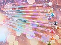 5本 ボールペン 大きなパールヘッド付き 学生 クリエイティブ カラフル メタルペン ジェル アンチスキップ ビジネスギフト 学校 オフィス用品 中字 1.0 mm ブラックインク