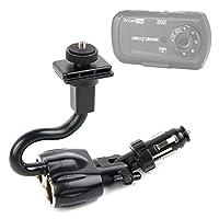 DURAGADGET調整可能なシガレットライターマウントfor the Nextbase In Car Cam 202Lite DVRビデオレコーダーの車、Transcend DrivePro 20016GB車ビデオレコーダー内蔵Wi - Fi & Hamaスター付き60/Daytour 20