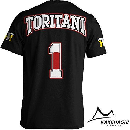 阪神タイガース公認 NEW選手出身国旗Tシャツ(Toritani) (XXL, 黒)