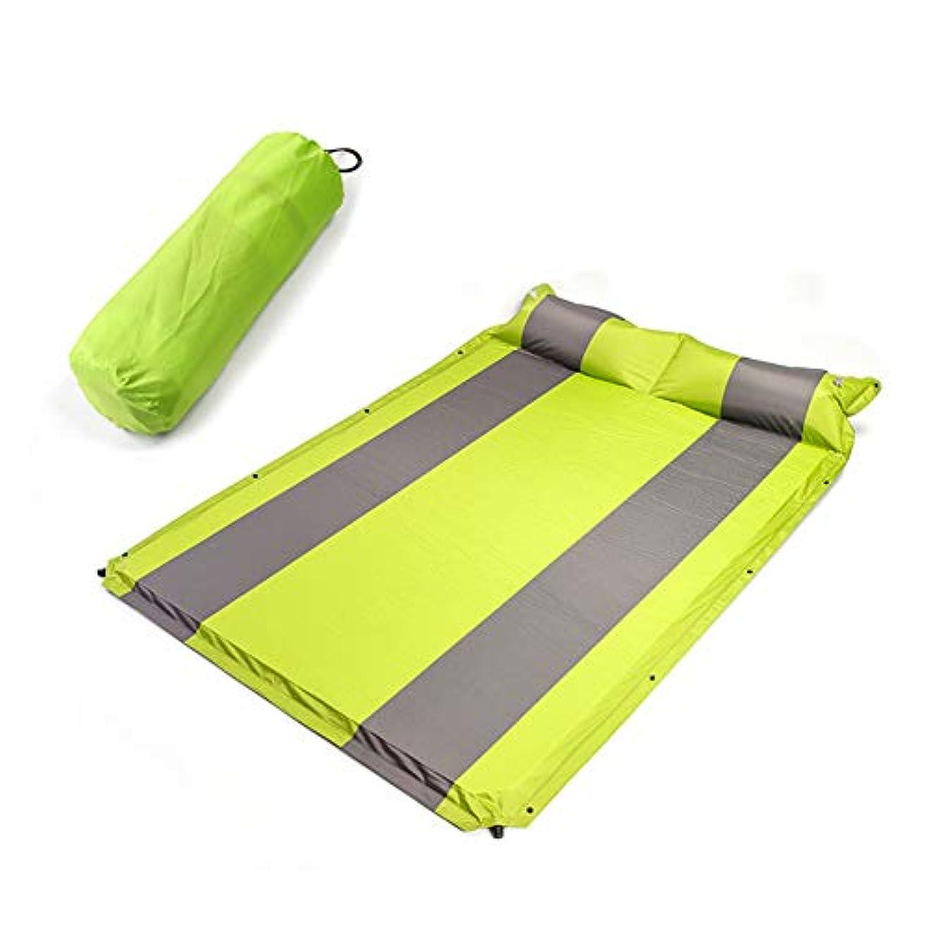 インチバーチャル骨スリーピングパッド自己膨張スリーピングマットエアパッド屋外キャンプ防湿膨らませキャンプ/ハイキング屋外2人用,A