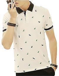 ポロシャツ メンズ 半袖 修身 吸汗速乾 綿 カジュアル ゴルフウェア 夏 服 SH01