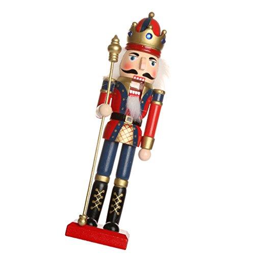 【ノーブランド品】 手塗り 木製 ナッツクラッカー 人形 ホーム/クリスマス 装飾 飾り ギフト - 06