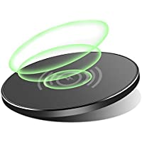 Wireless Charger iPhone X Overnight Wireless Charger Qi Standard Charging Pad for iPhone X Samsung Galaxy Note 8 S8 S8 Plus S7 Edge S7 S6 Edge Plus Note 5 iPhone 8 / 8 Plus [並行輸入品]