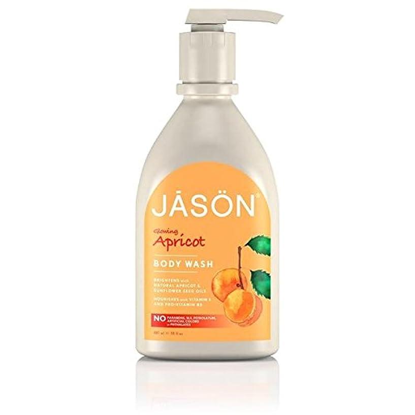 こっそりビデオ対処するJason Apricot Satin Body Wash Pump 900ml - ジェイソン?アプリコットサテンボディウォッシュポンプ900ミリリットル [並行輸入品]
